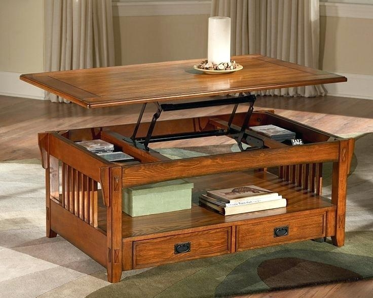 Excellent Variety Of Pop Up Top Coffee Tables In Castlecreek Mission Style Lift Top Coffee Table Mission Style Lift (Image 16 of 50)