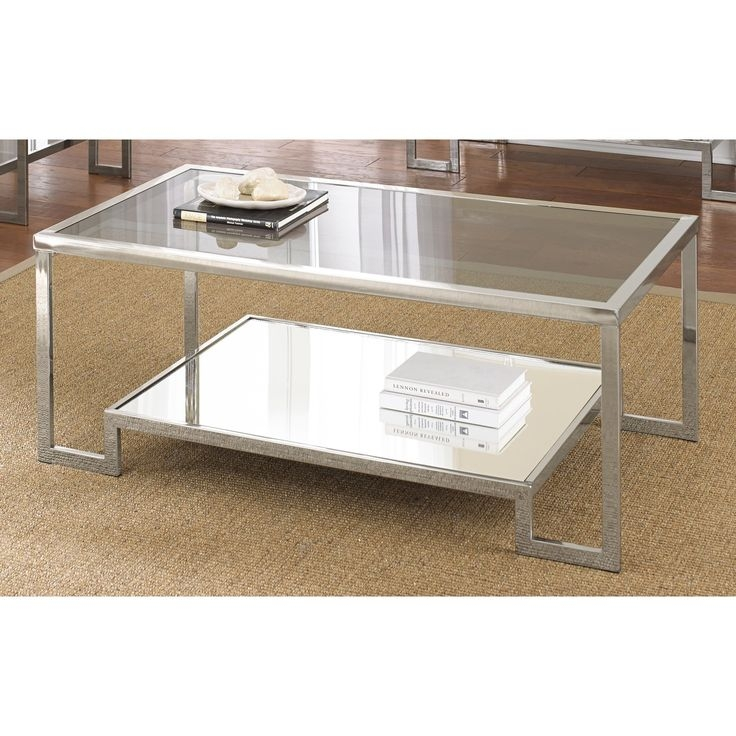 Excellent Variety Of Rectangle Glass Chrome Coffee Tables For 177 Best Glass Coffee Tables Images On Pinterest Glass Coffee (View 25 of 50)