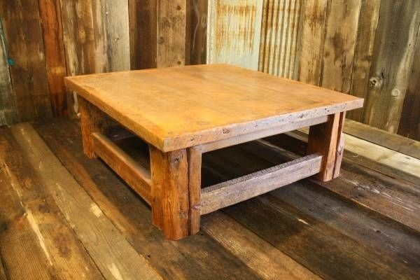 Excellent Variety Of Rustic Barnwood Coffee Tables With Custom Made Rustic Reclaimed Barnwood Coffee Table American (View 14 of 50)