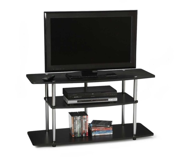 Excellent Variety Of Swivel Black Glass TV Stands Pertaining To Black Glass Tv Stand With Shelves And Swivel Mount Of Brilliant (View 37 of 50)