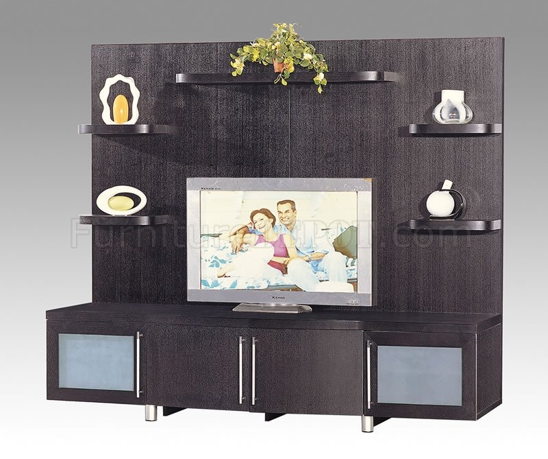 Excellent Variety Of TV Stands And Cabinets Throughout Wenge Finish Contemporary Tv Stand With Cabinets And Shelves (Image 18 of 50)