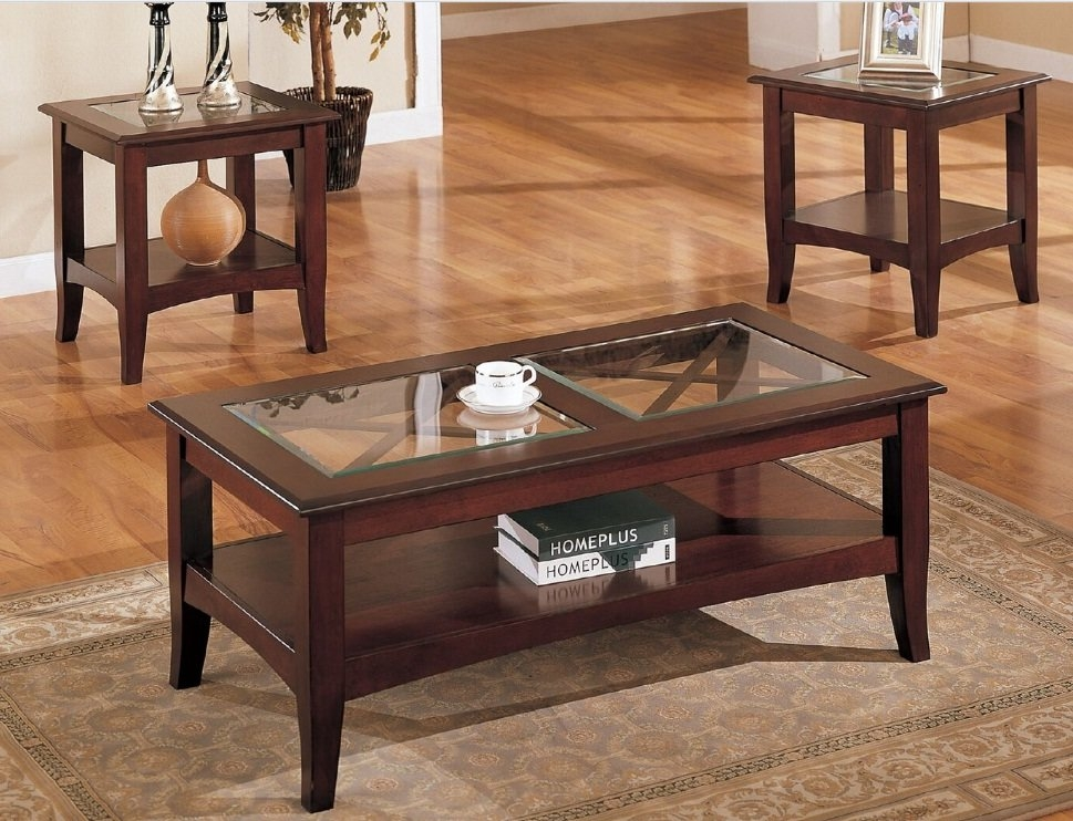 Excellent Variety Of Wayfair Glass Coffee Tables Intended For Glass Coffee Table Sets Youll Love Wayfair (Image 15 of 40)