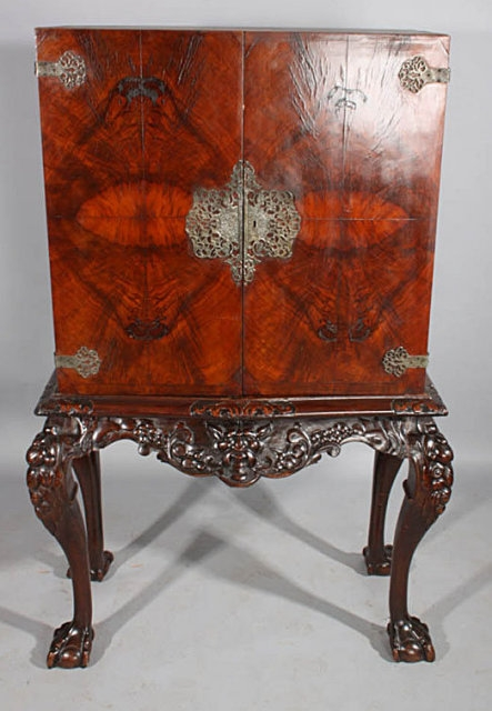 Excellent Wellknown Asian TV Cabinets Throughout French Asian Walnut Carved Plasma Tv Cabinet Liquor Bar For Sale (View 25 of 50)