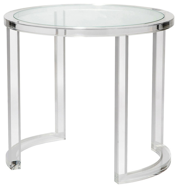 Excellent Wellknown Ava Coffee Tables Throughout Ava Modern Acrylic Clear Glass Round Center Table Modern Side (View 37 of 50)