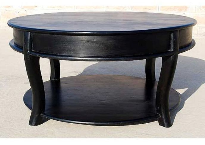 Excellent Well Known Black Circle Coffee Tables For Round Black Coffee Table (Image 16 of 50)