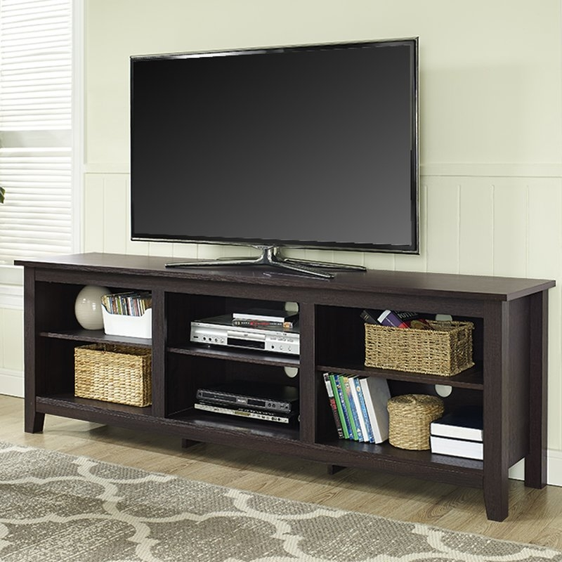 Excellent Wellknown Black Corner TV Cabinets With Glass Doors Within Tv Stands Joss Main (Image 15 of 50)