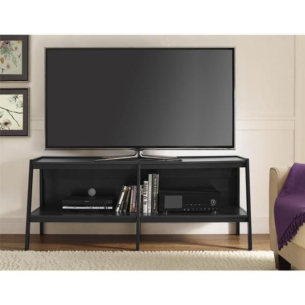 Excellent Well Known Black Corner TV Stands For TVs Up To 60 Inside Tv Stands 2017 Favorite Design Overstock Tv Stands Overstock (Image 14 of 50)