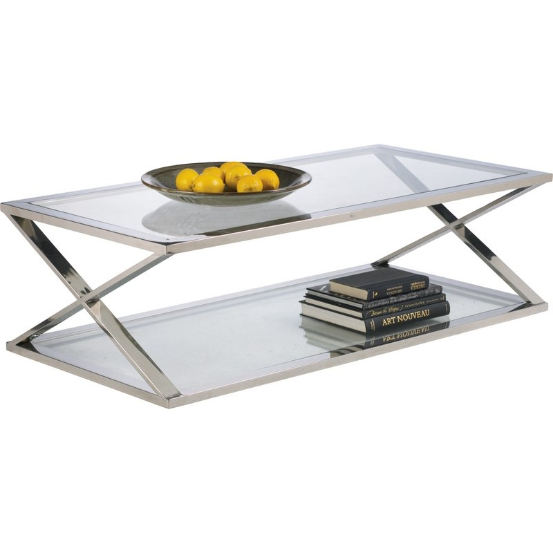 Excellent Well Known Chrome And Glass Coffee Tables Pertaining To Coffee Table Glass And Chrome Coffee Tables You Could Sit Down (Image 13 of 50)