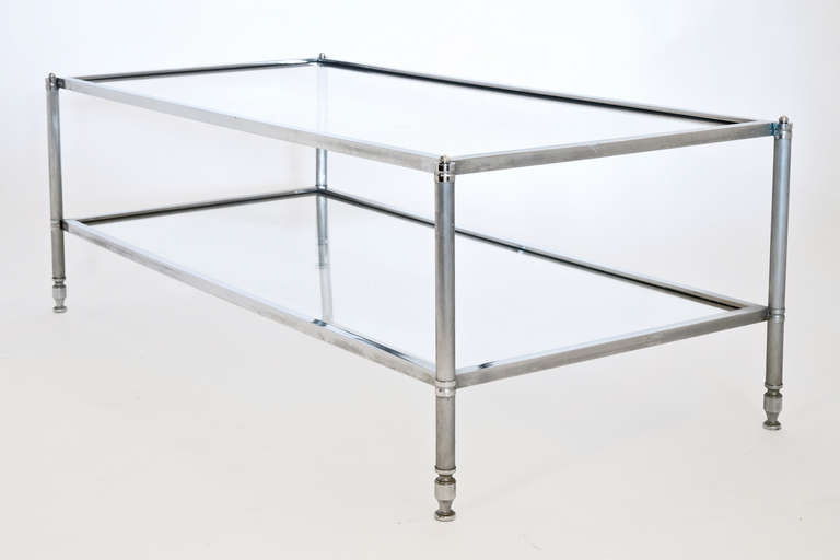 Excellent Wellknown Chrome Glass Coffee Tables Inside Amazing Chrome Glass Coffee Table Useful Interior Coffee Table (Image 19 of 50)