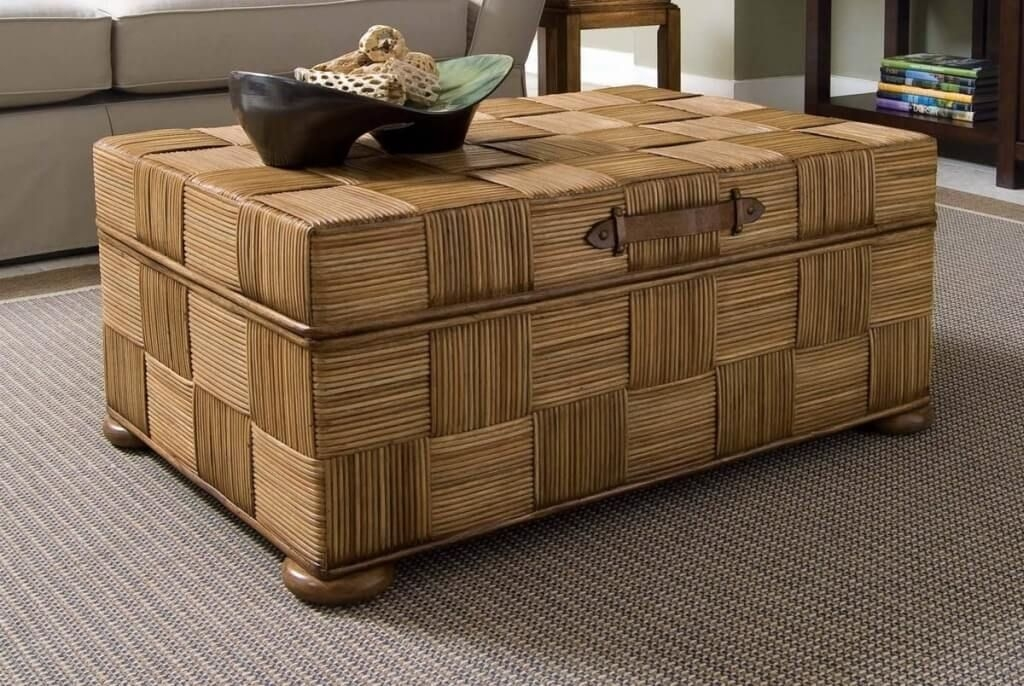 Excellent Well Known Coffee Table With Wicker Basket Storage Intended For Furniture Cheap Wicker Storage Trunk Ideas Decorative Wicker (Image 16 of 40)