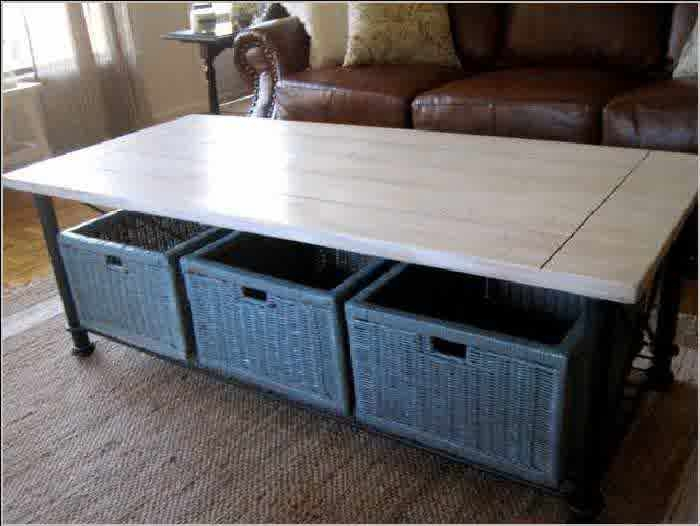 Excellent Wellknown Coffee Tables With Baskets Underneath Pertaining To Inspiring Designs Of Coffee Table With Baskets Homesfeed (Image 11 of 40)