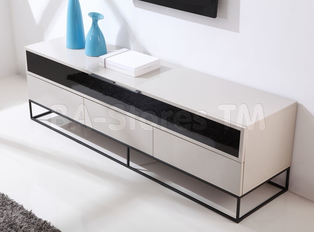 Excellent Well Known Cream Gloss TV Stands With Regard To B Modern Tv Stands Coffee Tables (Image 18 of 50)