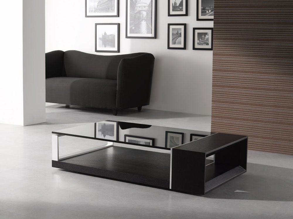 Excellent Wellknown Dark Glass Coffee Tables Pertaining To New Modern Contemporary Glass Coffee Tables All Contemporary Design (Image 20 of 50)