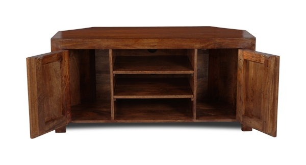 Excellent Well Known Dark Wood Corner TV Cabinets Pertaining To Dakota Corner Tv Unit Trade Furniture Company (Image 15 of 50)