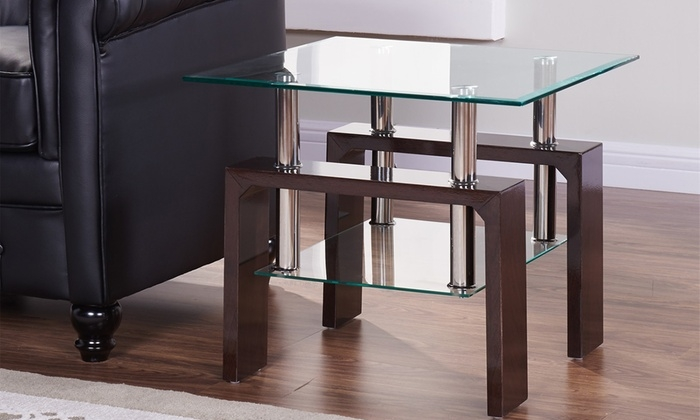 Excellent Wellknown Elise Coffee Tables With Regard To Elise Square Sidecoffee Table Groupon Goods (View 6 of 40)