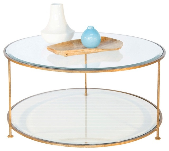 Excellent Wellknown Glass Circle Coffee Tables With Regard To Round Glass Coffee Table (Image 13 of 50)