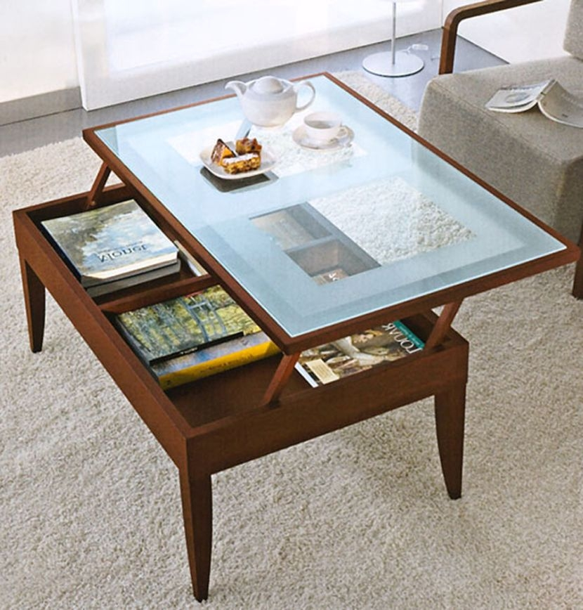 Excellent Well Known Glass Top Storage Coffee Tables With The Unique Lift Top Coffee Table White (Image 20 of 50)