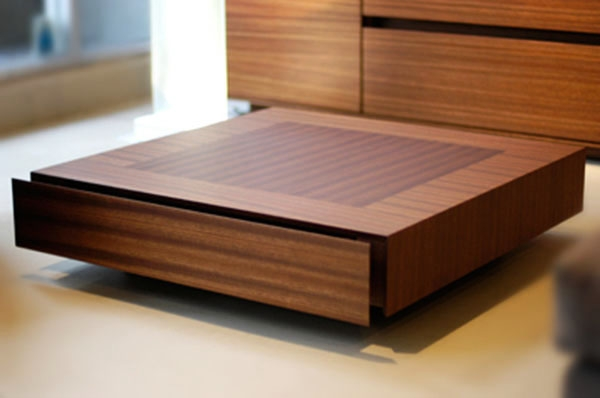 Excellent Wellknown Low Square Wooden Coffee Tables  Inside Modern Square Coffee Table (Image 15 of 50)