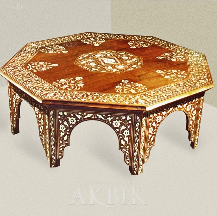 Excellent Wellknown Mother Of Pearl Coffee Tables Intended For Mediterranean Levantine Syrian Furniture Inlaid With Mother Of (Image 13 of 50)