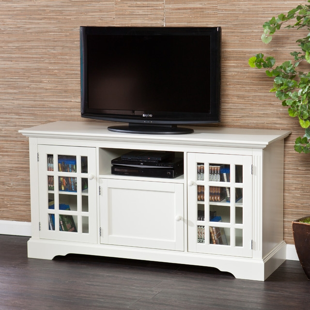 Excellent Well Known Off White Corner TV Stands Within Oak Tv Stand With Glass Doors Un Varnish Teak Wood Media Cabinet (Image 20 of 50)
