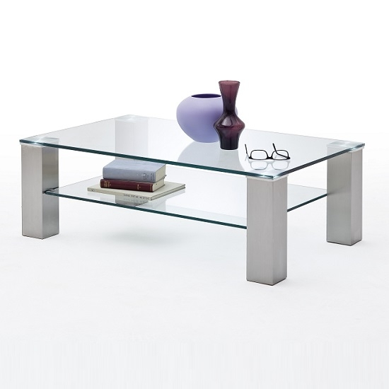 Excellent Well Known Rectangle Glass Coffee Table Regarding Hems Glass Coffee Table Rectangular In Clear With Metal (View 49 of 50)