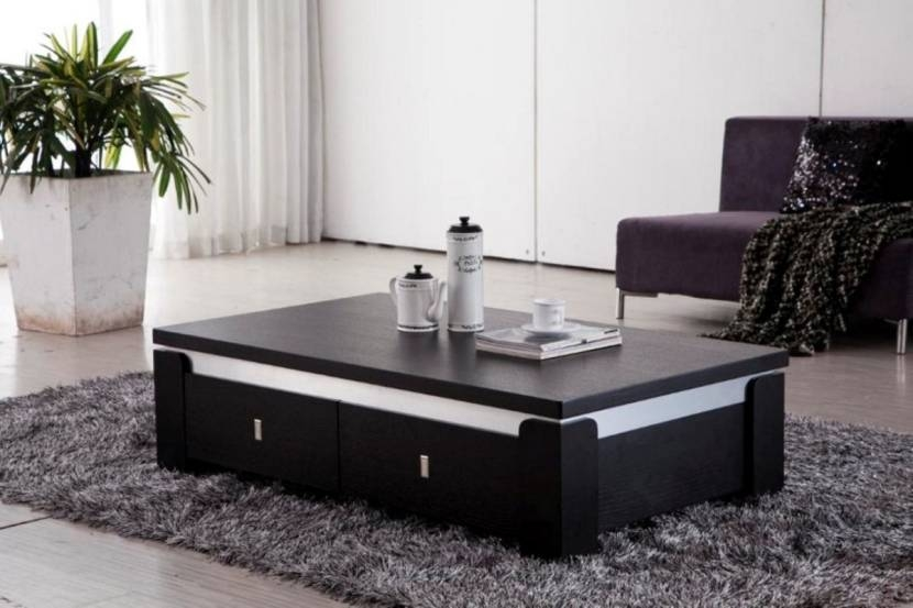 Excellent Well Known Small Coffee Tables With Drawer For Plain Black Coffee Table With Storage Drawers Decoration Ideas For (Image 20 of 50)