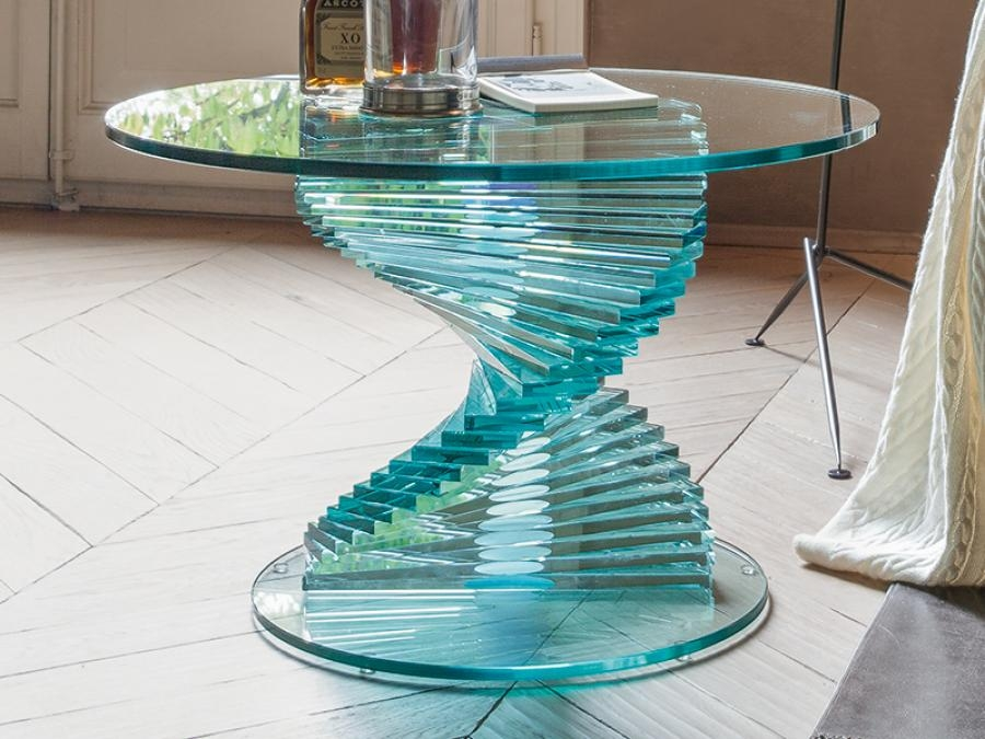 Excellent Well Known Spiral Glass Coffee Table Inside Ariel Spiral Base Coffee Table Glass Coffee Table Modern (View 43 of 50)