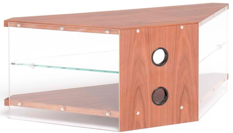 Excellent Wellknown Techlink Air TV Stands Throughout Techlink Walnut Air Ai110wc Acrylic And Glass Corner Tv Stand (Image 19 of 50)