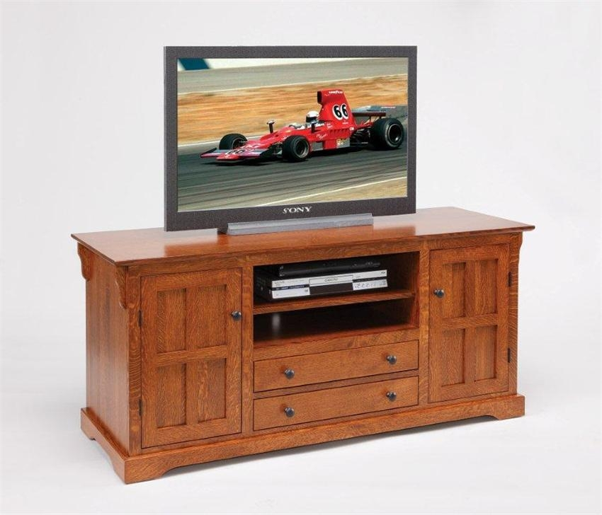 Excellent Well Known TV Stands With Drawers And Shelves In Amish Super Storage 60 Tv Stand (View 3 of 50)