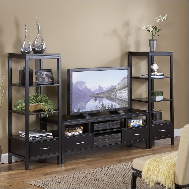 Excellent Well Known Very Tall TV Stands In Tv Stands Awesome Tv Stand With Media Towers 2017 Picture Tv (Image 16 of 50)