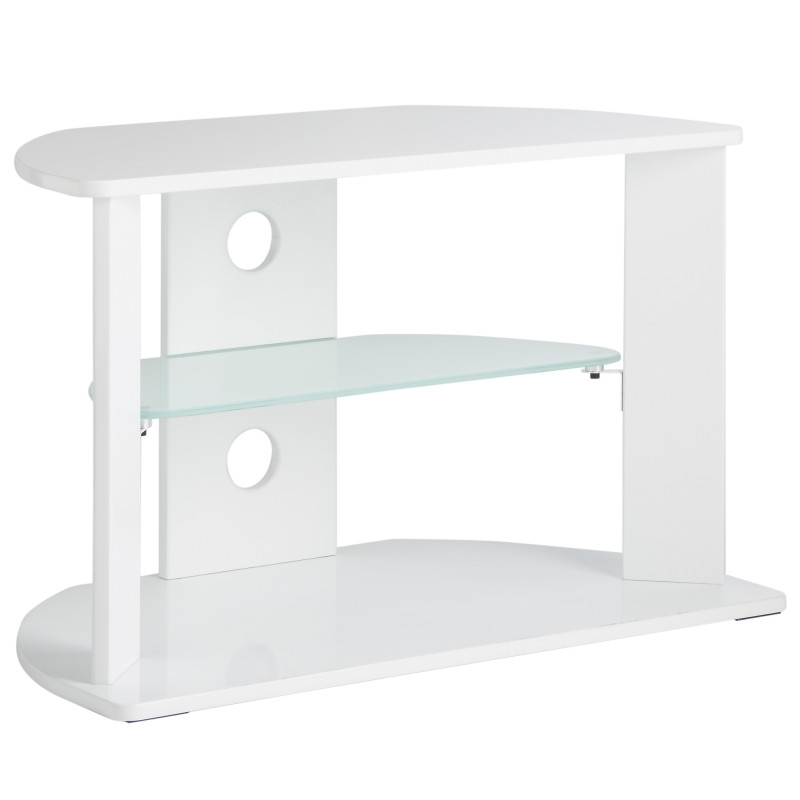 Excellent Wellknown White Glass TV Stands Intended For Vonhaus White Glass Tv Stand For 37inch Tvs (Image 22 of 50)