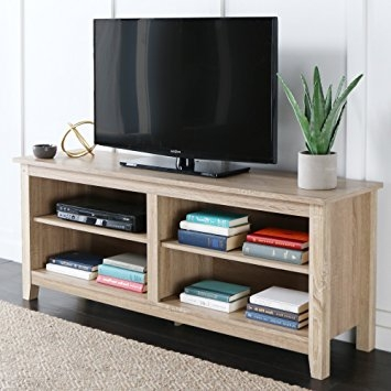 Excellent Wellknown Wood TV Stands Throughout Amazon We Furniture 58 Wood Tv Stand Storage Console (Image 21 of 50)