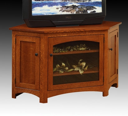 Excellent Wellliked 55 Inch Corner TV Stands With Regard To Mentor Tv Amish Furniture Tv Stands Tv Consoles Wall Units (Image 17 of 50)