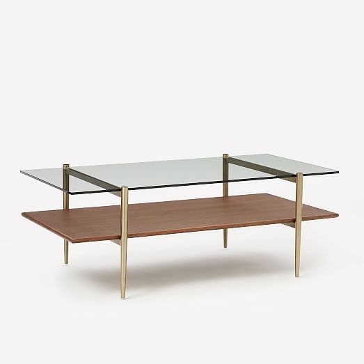 Excellent Wellliked Art Coffee Tables With Mid Century Art Display Coffee Table West Elm (Image 17 of 50)