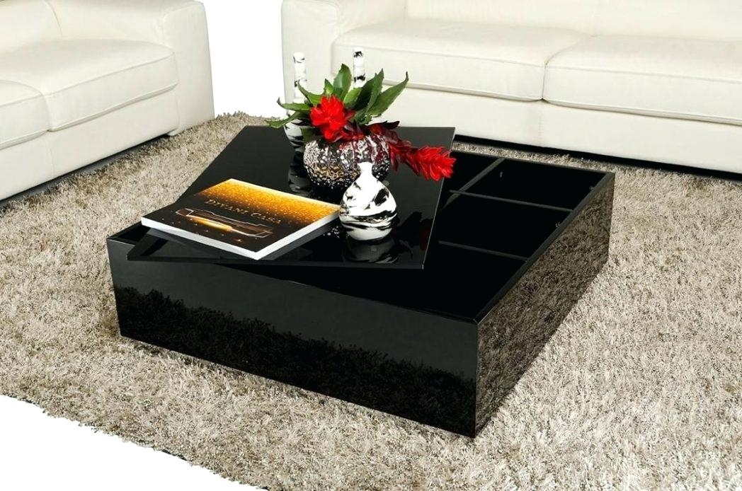 Excellent Wellliked Big Black Coffee Tables For Black Magic Ash Black Glass Coffee Table With Storage Large Round (Image 12 of 50)
