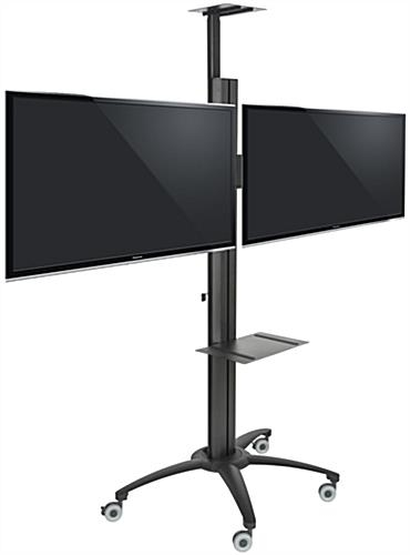 Excellent Wellliked Dual TV Stands With Regard To Lcd Console With Power Cord Dual Mount Television Stands (Image 17 of 50)