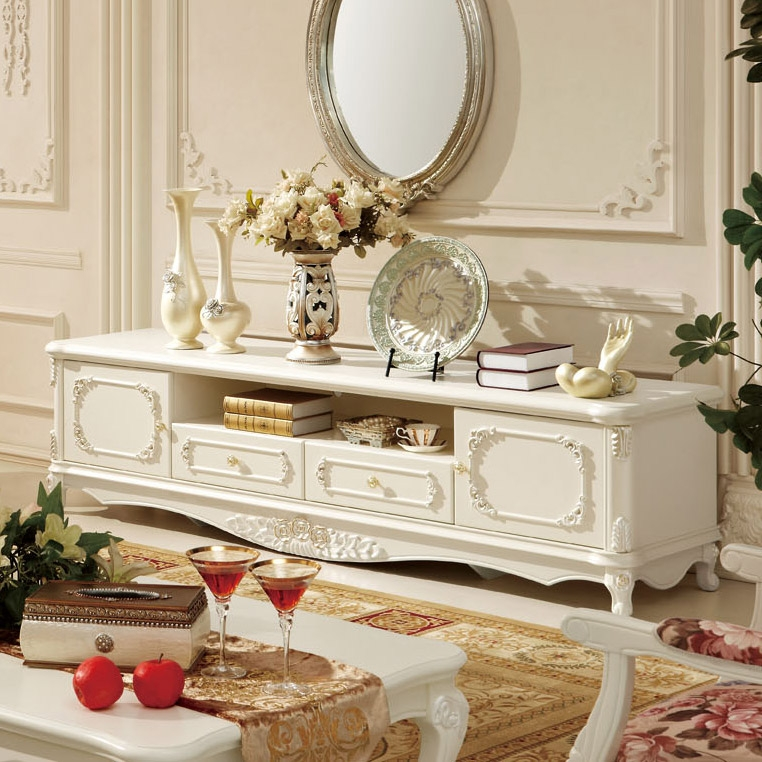 Excellent Wellliked French Style TV Cabinets With French Style Living Room Furniture Fashion Wood Tv Cabinet Ivory (Image 18 of 50)