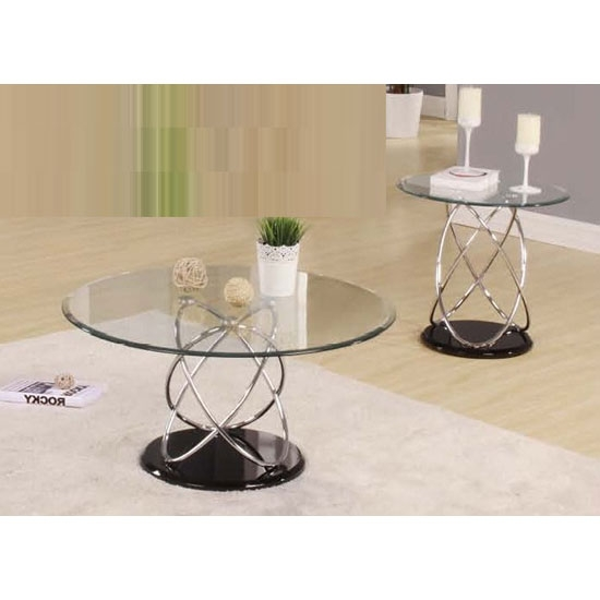 Excellent Wellliked Glass And Chrome Coffee Tables Throughout Marsielle Coffee Table In Black Glass And Chrome Legs  (Image 18 of 50)