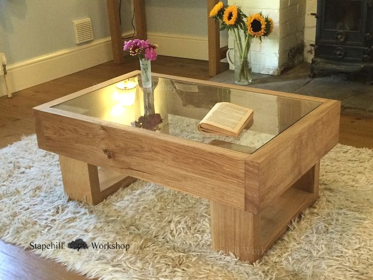 Excellent Wellliked Glass Oak Coffee Tables In Durdle Solid Oak Coffee Table With Glass Top Chunky Rustic And (Image 24 of 50)