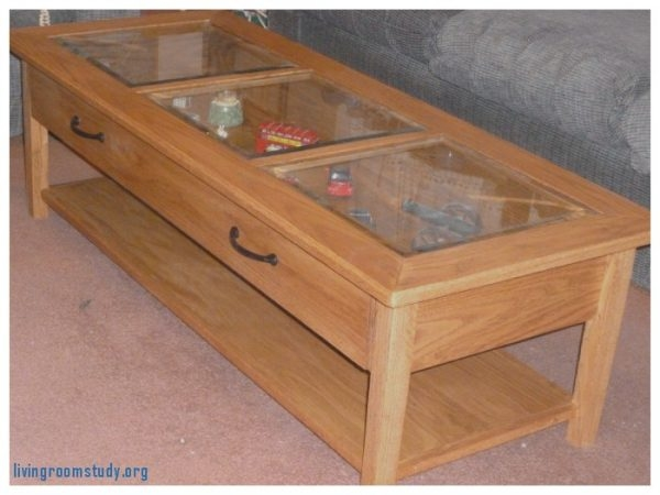 Excellent Wellliked Glass Top Display Coffee Tables With Drawers Regarding Living Room Stirring Glass Top Display Coffee Table With Drawers (Image 21 of 50)