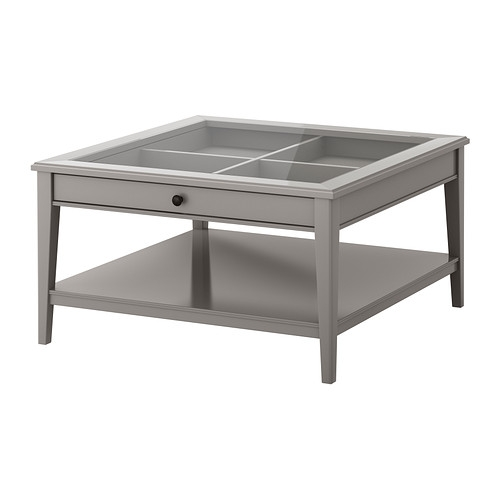 Excellent Wellliked Grey Coffee Tables Within Liatorp Coffee Table Grayglass Ikea (View 8 of 50)