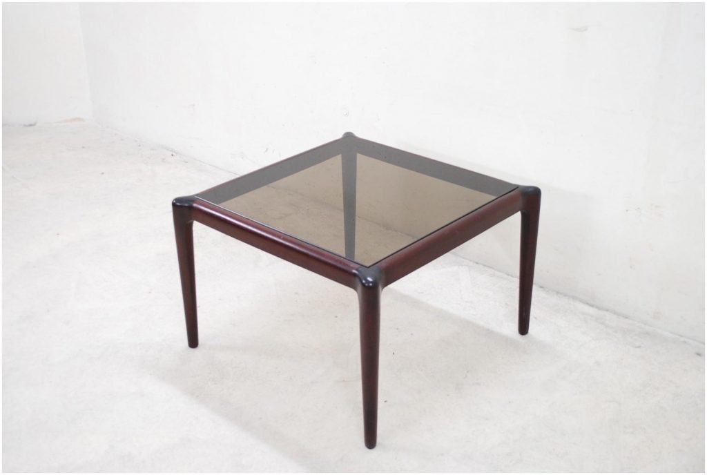 Excellent Wellliked Retro Smoked Glass Coffee Tables Regarding Teak Smoked Glass Coffee Table 1960 Cocinacentralco (View 17 of 40)