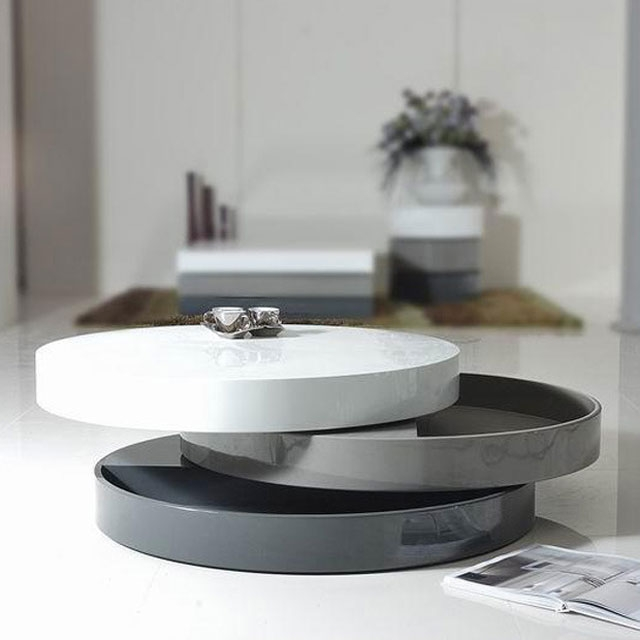 Excellent Wellliked Round Swivel Coffee Tables Within 21 Coffee Tables With Hidden Storage Space Vurni (View 8 of 50)