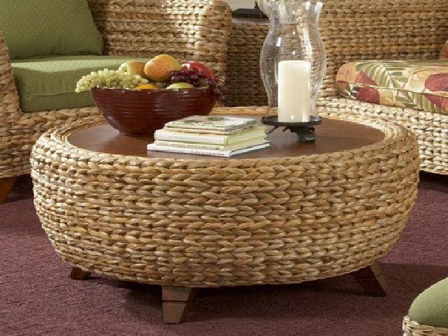 Excellent Wellliked Round Woven Coffee Tables Inside Unique Woven Coffee Table Decor (Image 24 of 50)