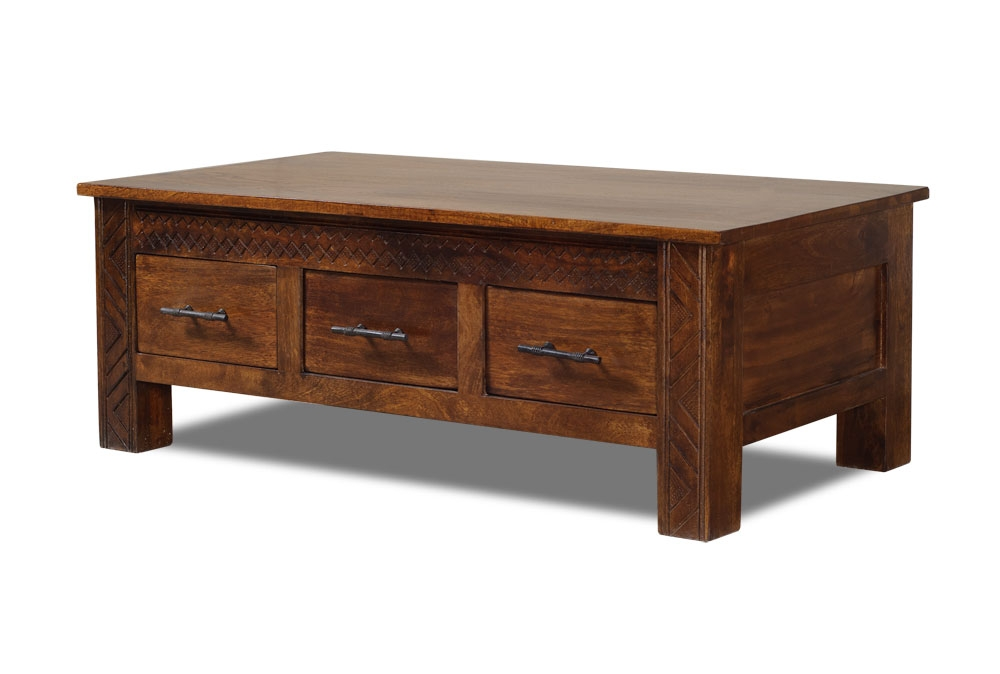 Excellent Wellliked Rustic Coffee Table Drawers Pertaining To Coffee Tables With Drawers Beautiful Rustic Coffee Table For (View 12 of 50)