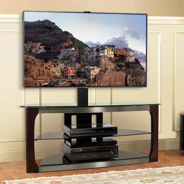 Excellent Wellliked Swivel Black Glass TV Stands Pertaining To 60 Inch Tv Stands Michael Anthony Porter 6shelf 60inch Tv Stand (Photo 21 of 50)