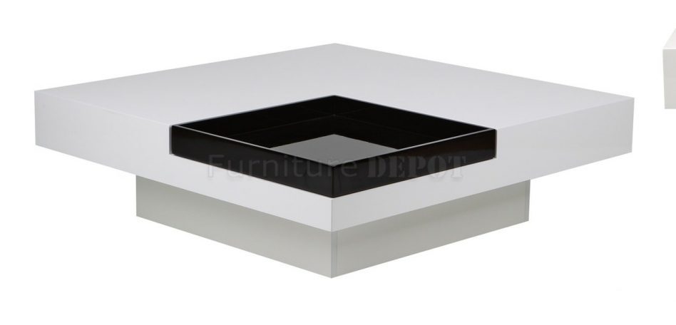 Excellent Wellliked White Square Coffee Table With Regard To White And Brown Coffee Table (Image 13 of 50)
