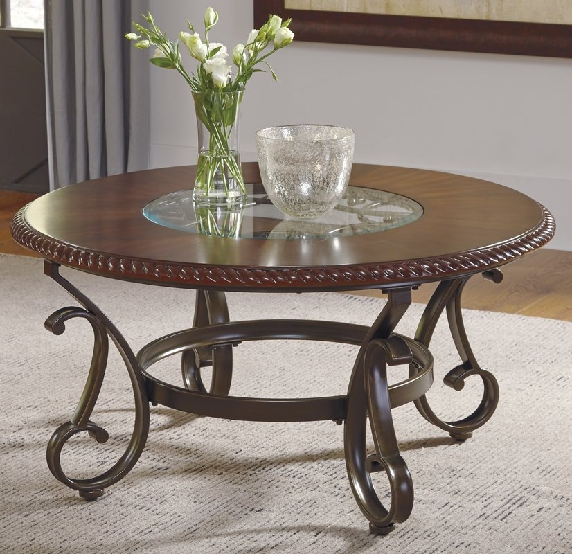 Excellent Widely Used Clock Coffee Tables Round Shaped Throughout Cherry Coffee Tables Youll Love Wayfair (Image 13 of 50)