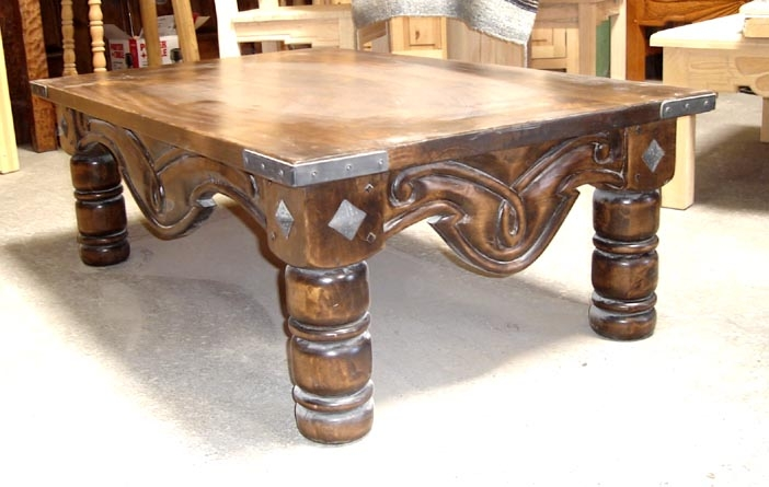 Excellent Widely Used Colonial Coffee Tables With Regard To Spanish Colonial Coffee Tables Southwestern Coffee Tables All (Image 14 of 50)