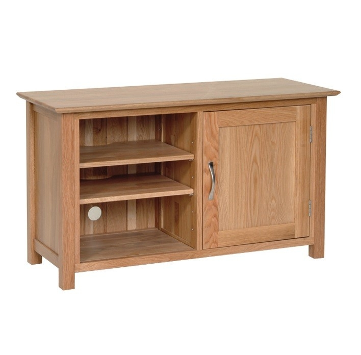 Excellent Widely Used Contemporary Oak TV Cabinets Throughout Oxford Contemporary Oak Tv Cabinet Oak Furniture Uk (Image 14 of 50)